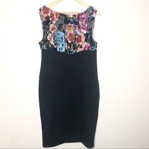 Ted Baker London Black Dress Floral Silk Blend